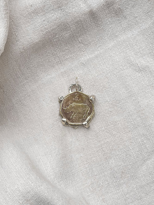 Champagne Silver Botswana Lucky Penny