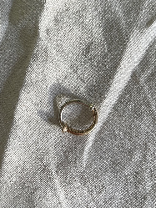 Gold + Silver Elephant Nail Ring