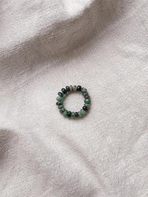Emerald Doughnut Delight Ring