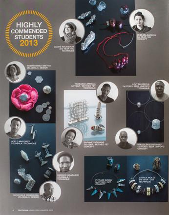 Third Place. Thutuka Jewellery Awards 2013