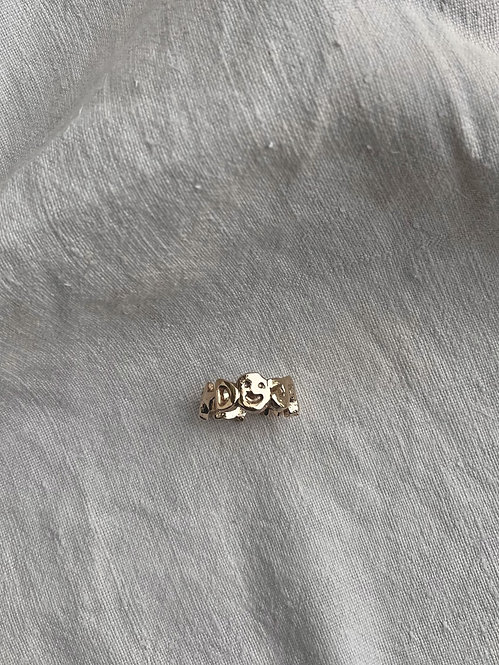 Gold ABC Ring