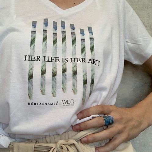 Héria Enamel x The wardrobe T-shirt