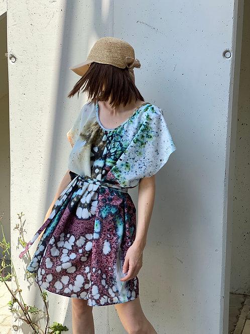 Enamel Printed Over Size dress