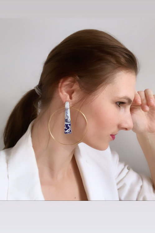 Piramid Earring