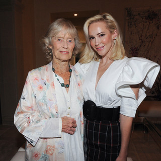 Louise with actress and philantrhopist Virginia McKenna at a fundraiser for Born Free USA hosted by Louise.  In January 2020Louise joined the Born Free Honorary Council.