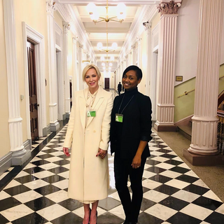 Louise and Kia Freeman advocating for animal wellfare on Capitol Hill.