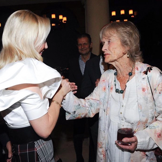 Louise with actress and philantrhopist Virginia McKenna at a fundraiser for Born Free USA hosted by Louise.