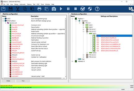 Konfigurationsfenster des Entwicklungssystems für industrielle Tpa Albatros-Automatisierungslogiken