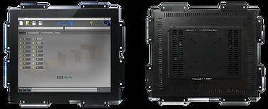 Передняя и задняя панель сенсорного монитора TFT-LCD для промышленных компьютеров, 10 дюймов, черный металлический корпус