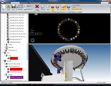 Ventana de los parámetros de herramientas de Tpa Simul 3D, donde se puede configurar los parámetros de equipamiento de las máquinas de mecanizado de madera para la simulación tridimensional