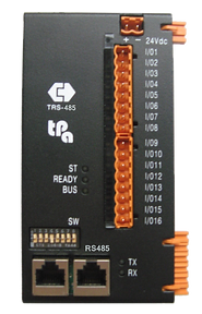 Tpa TRS-485 bus coupler, GreenBUS, 16 bidirectional digital I/O channels, up to 5 expansions