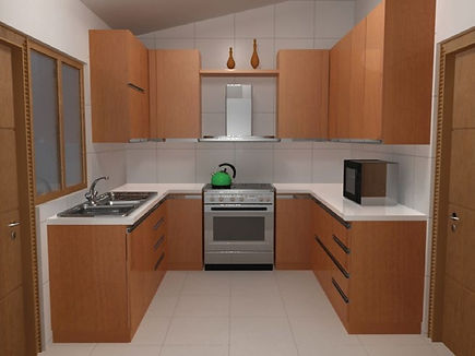 A presentation of a kitchen prepared with Lepton Cabinet Cocina