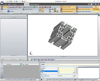 Three-dimensional view of the piece in TpaCAD, the CAD/CAM programming system for Microsoft Windows environments of Tpa