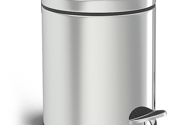 Trash Cans Pedal Dustbin Chrome 3LTR