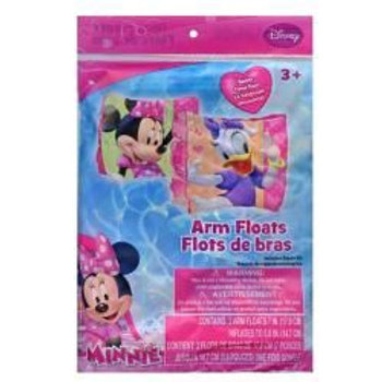 Minnie Bowtique Arm Inflatable Floaties 4.5 Gauge in Polybag With color insert