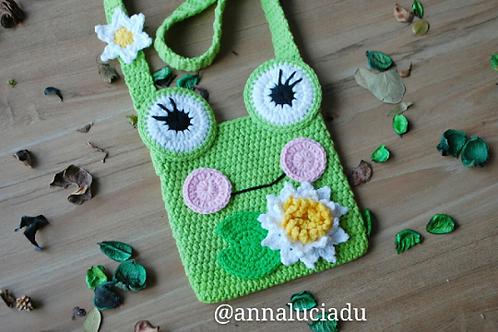 Crochet frog purse pattern