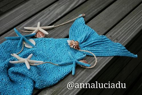 crochet mermaid cocoon blanket