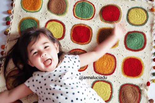 Crochet autumn blanket pattern