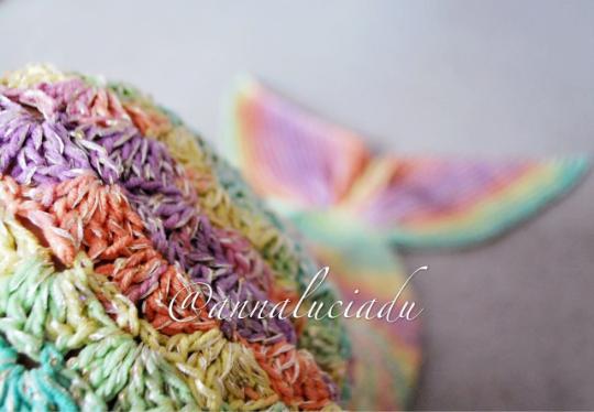 Rainbow mermaid pattern