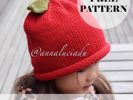 Knitting Apple Hat Free pattern