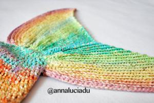 rainbow colour tail pattern