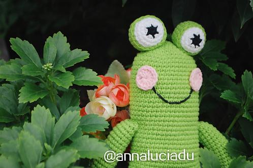 crochet frog, crochet toys, frog pattern