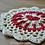 Thumbnail: Crochet Heart mandala coaster pattern