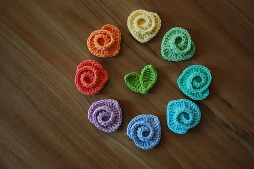 crochet rainbow rose pattern
