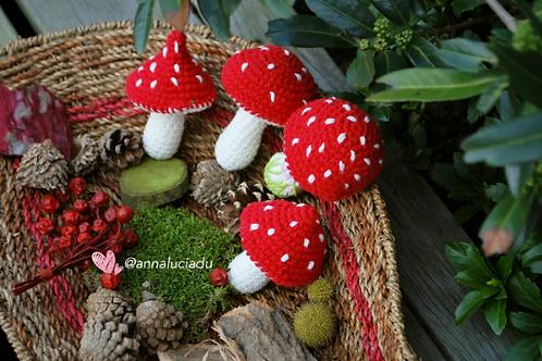 Crochet woodland toadstool pattern