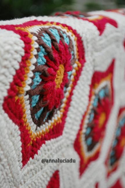Crochet squares blanket pattern
