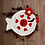 Thumbnail: Crochet fish heart coaster pattern