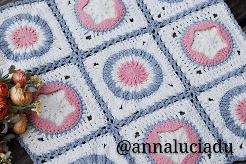 Crochet star blanket pattern