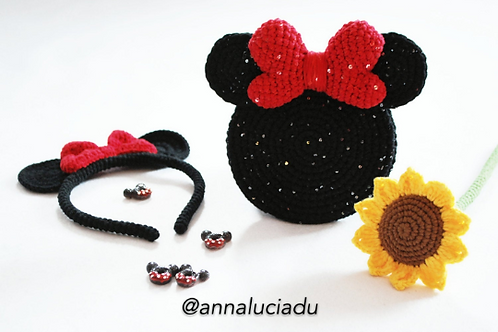 crochet minnie mouse 2-pack pack