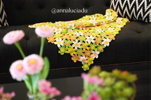 Spring daisy, flowers, crochet