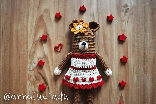 Crochet bear doll pattern