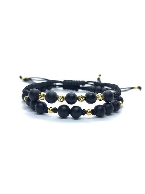 Set Luxury Negru Placat cu Aur