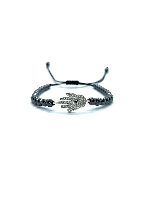 Grey Hamsha Bracelet
