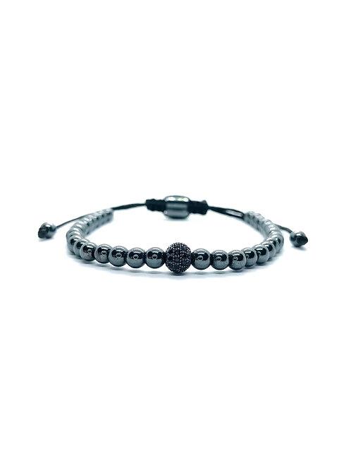 Bratara Premium Black Sphere