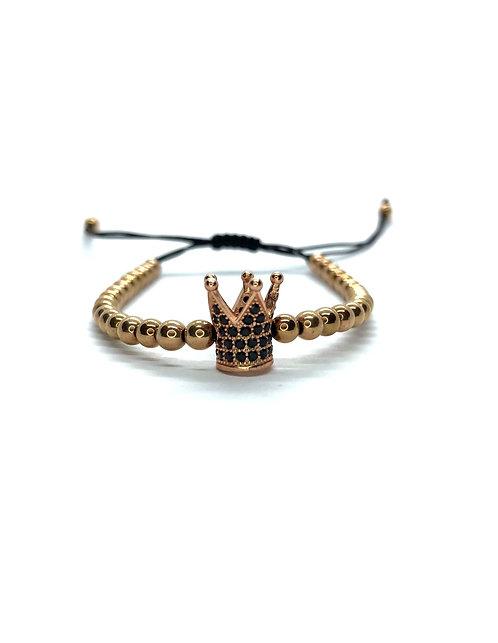 Rose-Gold Crown Bracelet