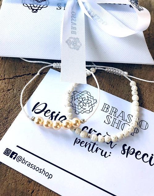 Set Beige Pearls 925