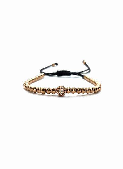 Rose-Gold Ball Bracelet