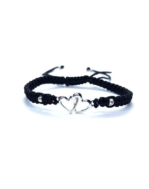 Bratara Silver Hearts 925