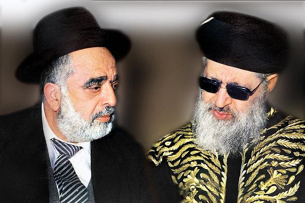 הרב עובדיה עם הרב בן ציון אבא שאול
