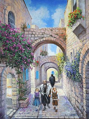 אב וילדיו בעיר העתיקה