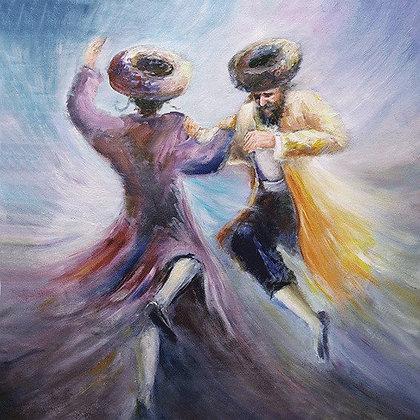 שני חסידים רוקדים