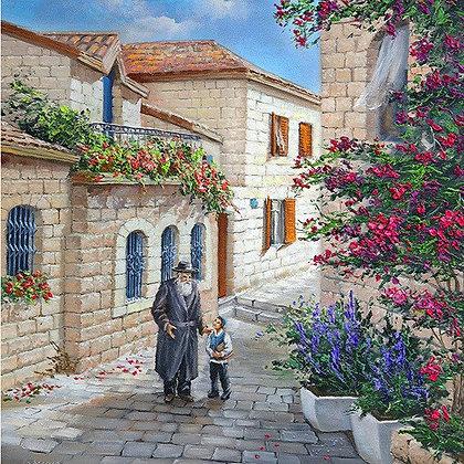 אב ובנו בעיר העתיקה