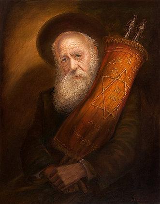 יהודי מחזיק ספר תורה