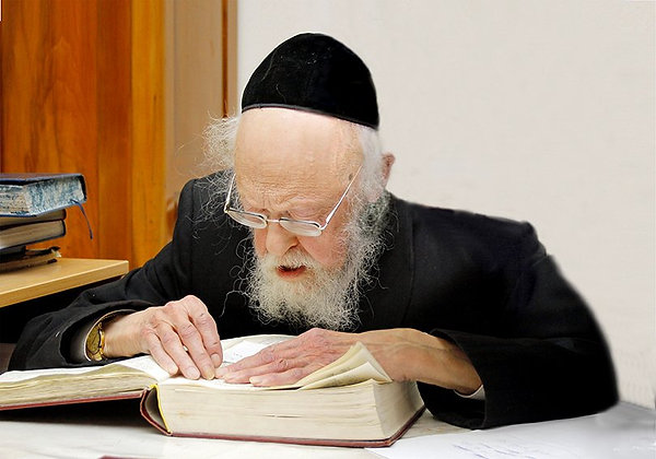 הרב אלישיב לומד