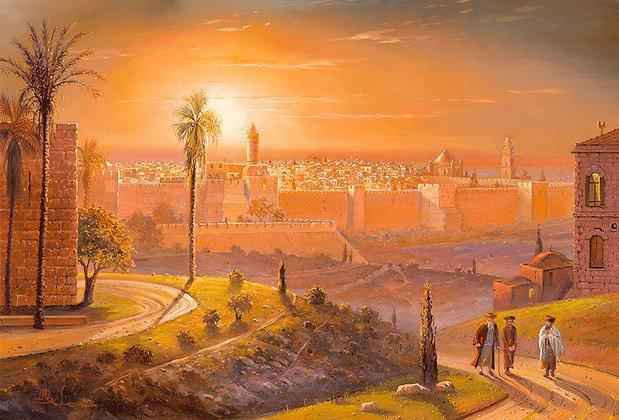 מגדל דוד בשקיעה