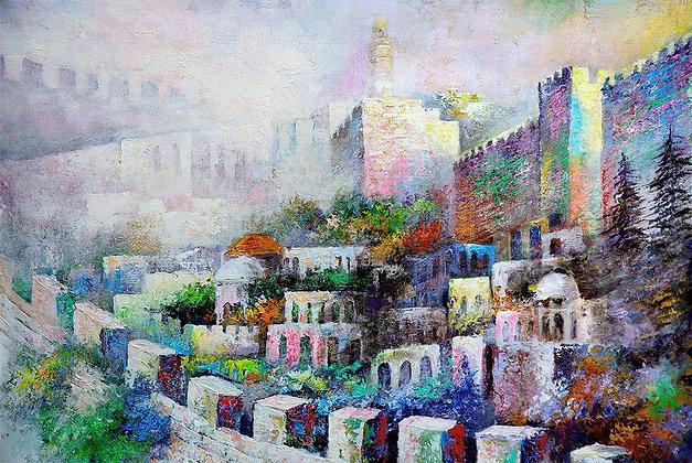 חומות ירושלים - אפסטרקט